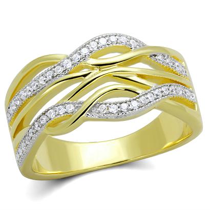 Kolekce dámských prstenů stříbrných - Stříbro 925 pozlacených 14 karátovým  žlutým zlatem se zirkony f07aa42b9b