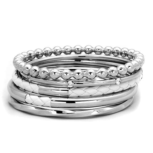 Ocelové dámské náramky s Cubic Zirconia Ocel 316 - Set 5 ks Barbra ... 21a90d96112