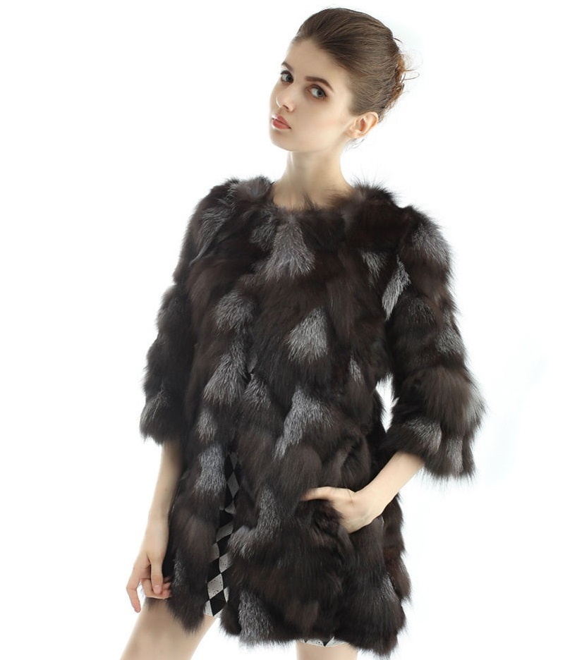 Kožešinový kabátek z pravé kožešiny lišky 8e488c8183