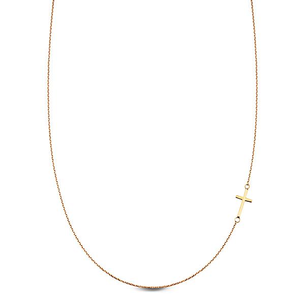a4e1b1e99 Dámský zlatý náhrdelník žluté zlato Au 0,585 - NZC5033 - Křížek | E ...