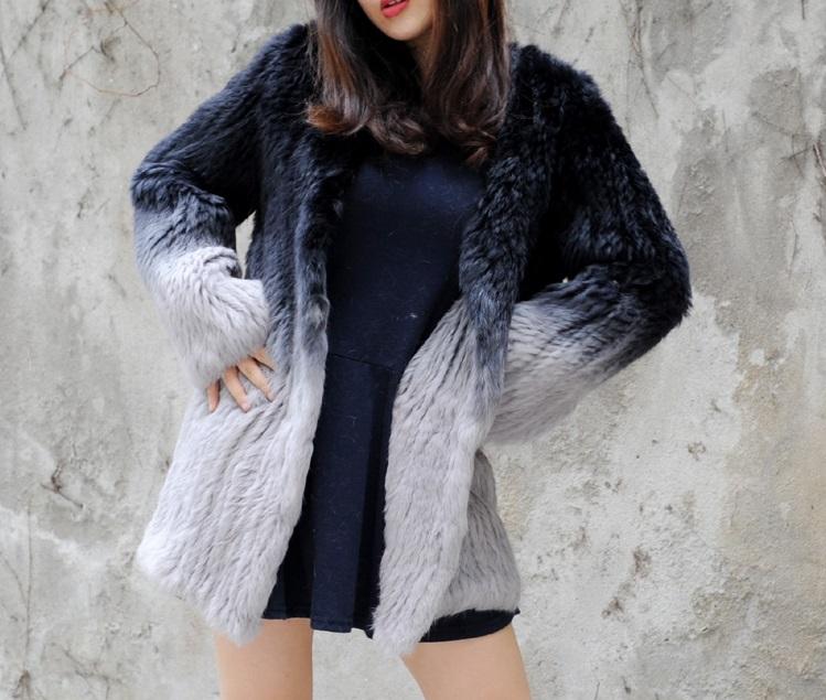 Kožešinový dámský pletený kabátek z králíka S až 7XL  e53b67dcfb