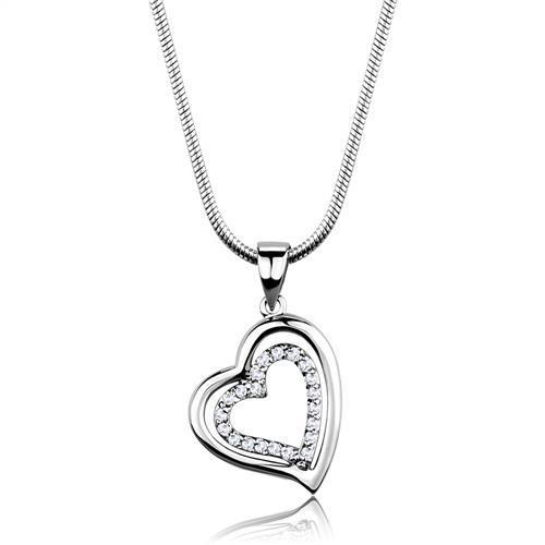 05ad5df0c Rhodiovaný dámský náhrdelník s Cubic Zirconia - Srdce Ariela | E ...