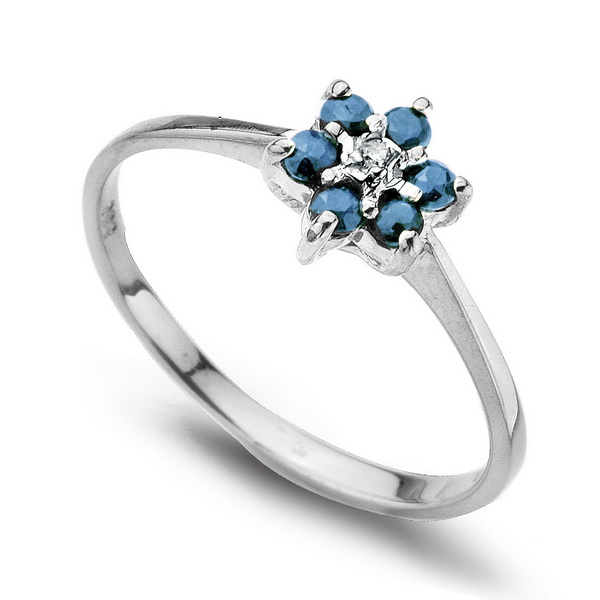 871d14f96b5 Zlato s brilianty - Staviori | Zlatý prsten s briliantem a 6 safíry ...