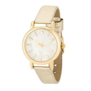 f254e2d7a45 Dámské ocelové hodinky s páskem imitace kůže - zlaté