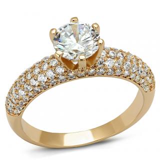 Pozlacený dámský prsten s Cubic Zirconia - Adelyn 2d654d23b5